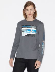 Armani T-SHIRT WITH LONG SLEEVES