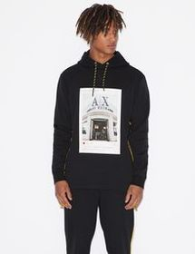 Armani HOODED SWEATSHIRT WITH PRINT