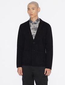 Armani COTTON-BLEND KNIT BLAZER