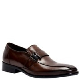 Mens Leather Run-Off Toe Slip-On Shoes