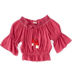 Angie Big Girls 7-14 Bell-Sleeve Off-The-Shoulder