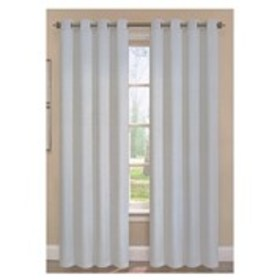 Set of 2 Faux Linen Extra Wide Grommet-Top Window
