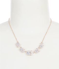 Anne Klein Cluster Frontal Necklace