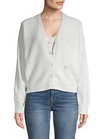 Joie Hadyn Wool & Cashmere Cardigan HEATHER STEEL