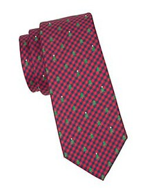 Tommy Hilfiger Tree & Gingham Tie RED