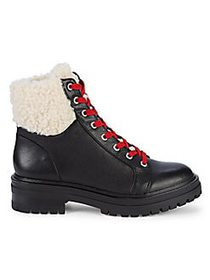 Kenneth Cole Ronnie Faux Shearling-Trim Waterproof