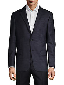 Hickey Freeman Standard-Fit Checkered Wool Sportco