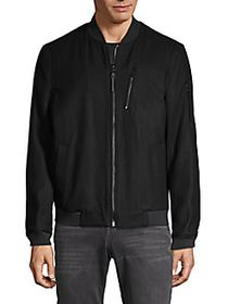 Michael Kors Wool-Blend Zip Jacket BLACK