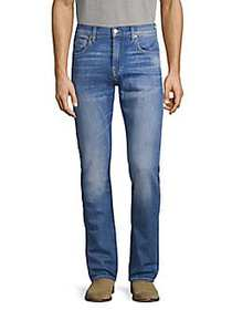 7 For All Mankind Slim-Fit Faded Jeans BLUE