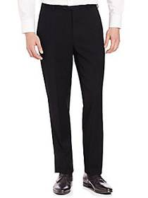 Armani Collezioni Solid Wool Trousers NAVY