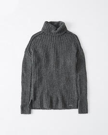 Turtleneck Sweater, DARK GREY