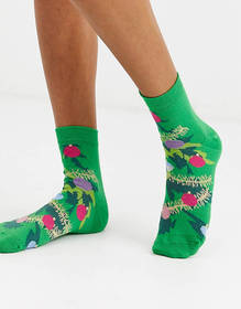 ASOS DESIGN Holidays tree glitter ankle socks