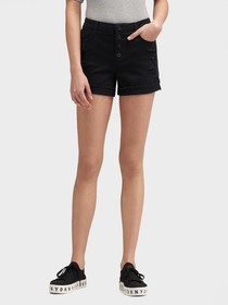 Donna Karan THE TWILL BUTTON-FLY SHORT