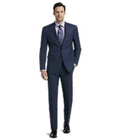 Jos Bank Traveler Collection Slim Fit Mini Check S
