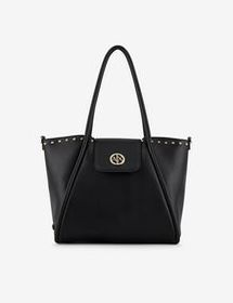 Armani MINI SHOPPING BAG WITH SHOULDER STRAP AND H