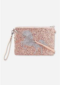 Justice Unicorn Glitter Convertible Crossbody Bag