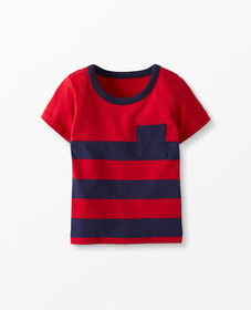Hanna Andersson Sueded Jersey Colorblock Tee in Na
