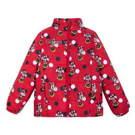 Disney Minnie Mouse Red Lightweight Puffy Jacket f