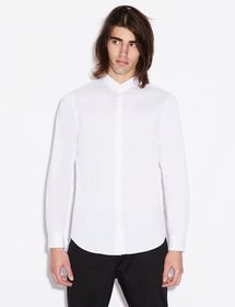 Armani SLIM-FIT SHIRT WITH LONG SLEEVES