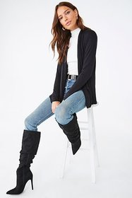 Forever21 Heathered Open Front Cardigan