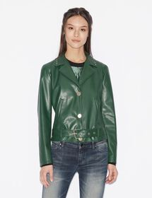 Armani ECO-LEATHER JACKET WITH BELT