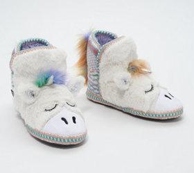 MUK LUKS Critter Slipper Boot with Faux Fur - A368