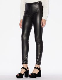 Armani FAUX LEATHER LEGGINGS WITH STUDS
