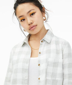 Aeropostale Long Sleeve Check Button-Down Shirt