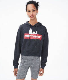Aeropostale Snoopy Not Today Pullover Hoodie