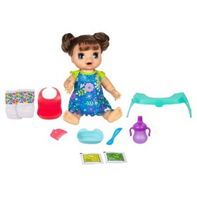 Baby Alive Happy Hungry Baby Doll - Brunette Strai