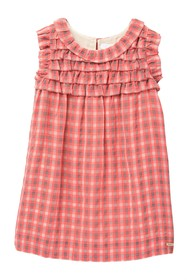 Burberry Magnolya Ruffle Yoke Plaid Dress (Little