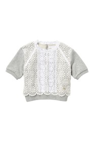 Burberry Hettie Lace Overlay Top (Little Girls & B