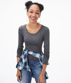 Aeropostale Long Sleeve Shrunken Tee