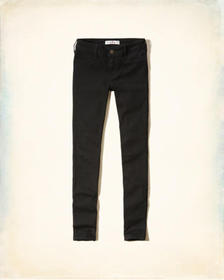 Hollister Stretch Low-Rise Jean Leggings, BLACK
