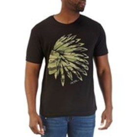 Men's Camo Short Sleeve Cotton Graphic T-Shirt