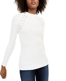I.N.C. Lace-Up Sweater, Created For Macy's