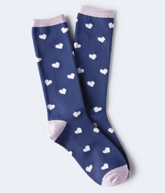 Aeropostale Seriously Soft Heart Boot Socks***