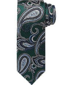 Jos Bank Reserve Collection Paisley Tie - Long CLE