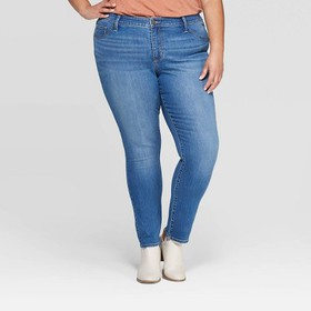 Women's Plus Size Mid-Rise Jeggings - Universal Th