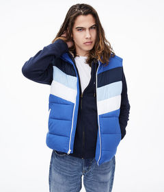 Aeropostale Colorblocked Quilted Vest
