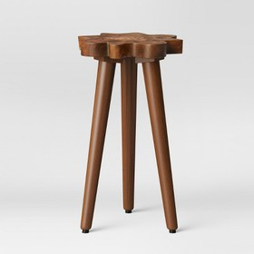 Buckland Live Edge Accent Table Brown - Threshold&