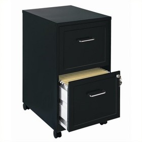 Mobile 2 Drawer File Cabinet in Black-Scranton & C