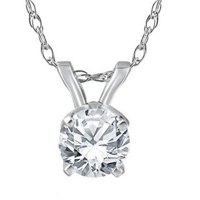Pompeii3 3/8 Ct Solitaire Natural Diamond Pendant