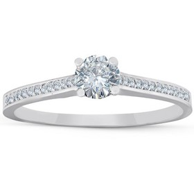 Pompeii3 1/2 Ct Diamond Engagement Ring With Side