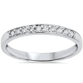 Pompeii3 1/4ct Diamond Stackable Wedding Ring 14K