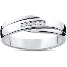 Pompeii3 Mens Cut Diamond Wedding Ring 1/6cttw 10K