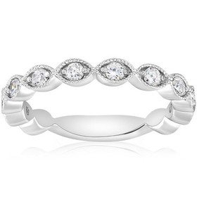 Pompeii3 3/8ct Vintage Diamond Stackable Wedding R