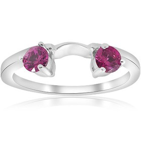 Pompeii3 1/2ct Ruby Wrap Engagement Guard Ring 14K