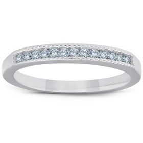 Pompeii3 1/4ct Diamond Channel Set Ring 14K White