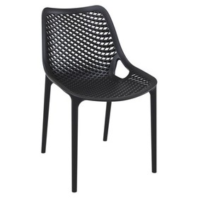 Air Outdoor Patio Dining Chair in Black - Set of 2